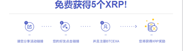 BTCEXA交易所 - 正在空投XRP,获得随机奖励,邀请一位朋友再获得5XRP!